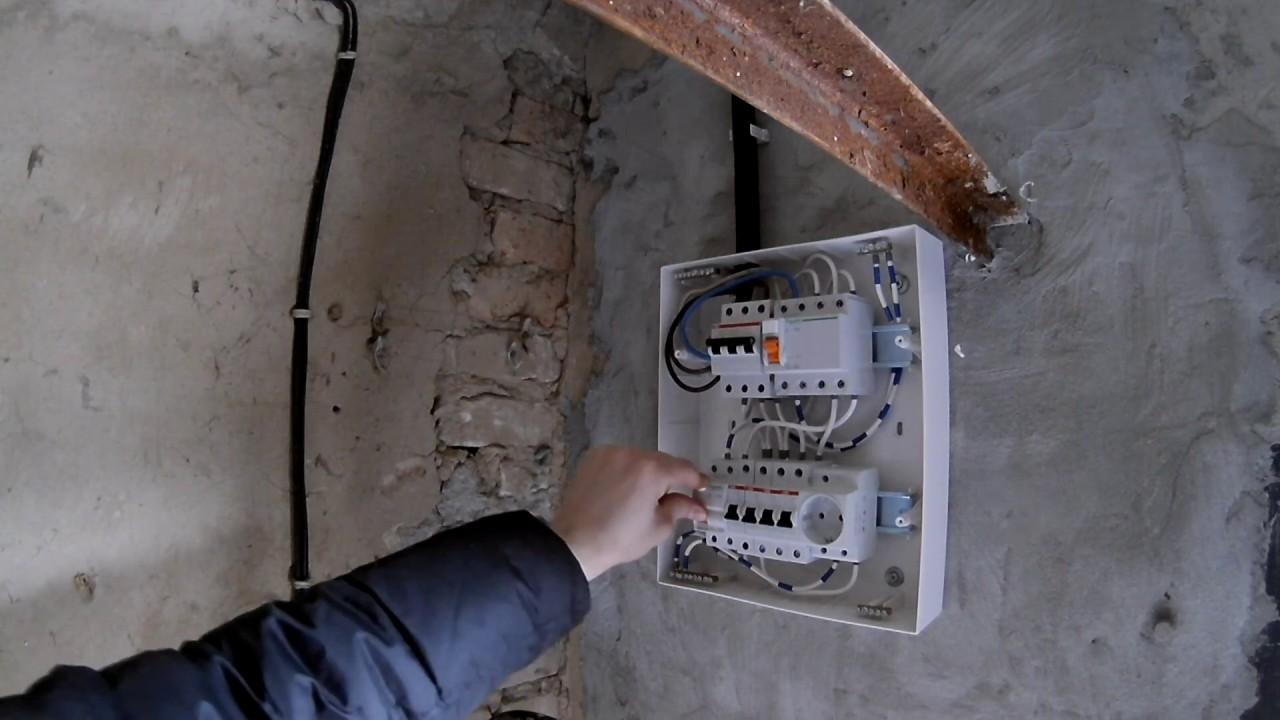 Как сделать электрический щиток в гараж 128