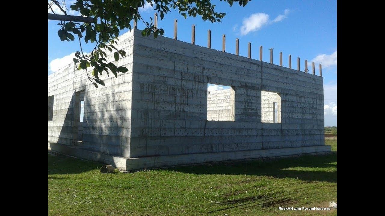 Строительство монолитного дома своими руками  Building a monolithic house with your own hands