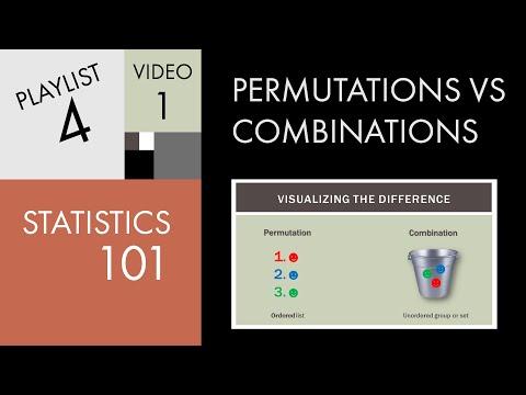 Statistics 101: Permutations vs. Combinations