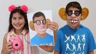 Maria Clara e JP brincam com fotos mágicas ♥ Maria clara and JP play with magical photos