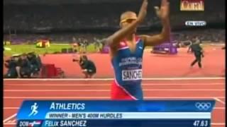 Campeones Olimpicos 2012 Felix Sanchez y Luguelin Santos