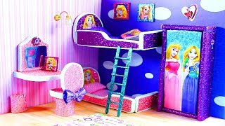 DIY Miniature Dollhouse Room - Rapunzel / Aurora from Sleeping Beauty Room Decor & Accessories