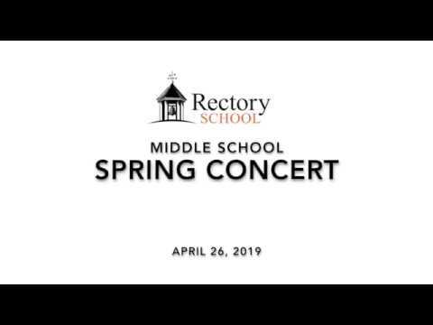 Rectory School Grades 7-9 Spring Concert