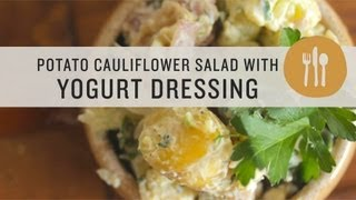 Potato Cauliflower Salad With Yogurt Dressing