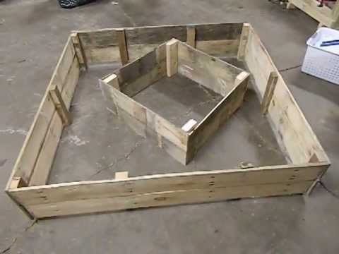 Recycled Wooden Pallet Raised Bed Garden Youtube