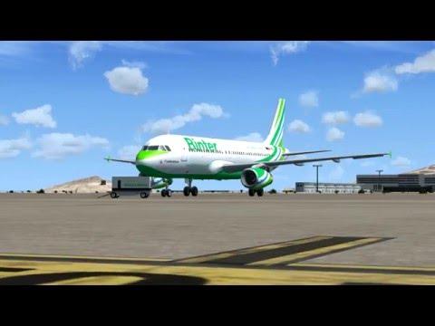 FSX Binter Canarias A320-200 de Casablanca Mohammed V a Las Palmas de Gran Canarias