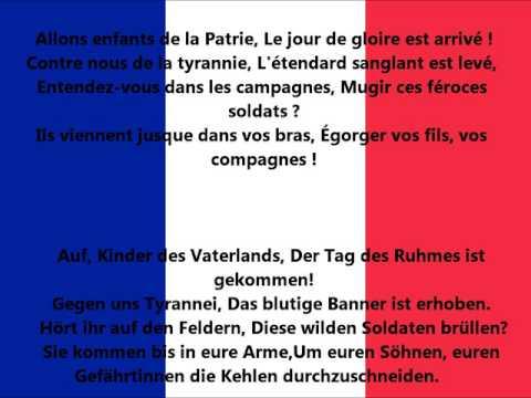 Französische Nationalhymne (text) - La Marseillaise