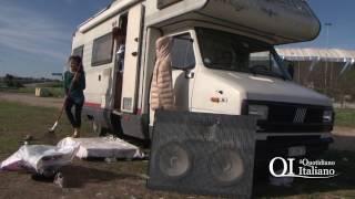 Bimbi rom in pessime condizioni condizioni allo stadio San Nicola