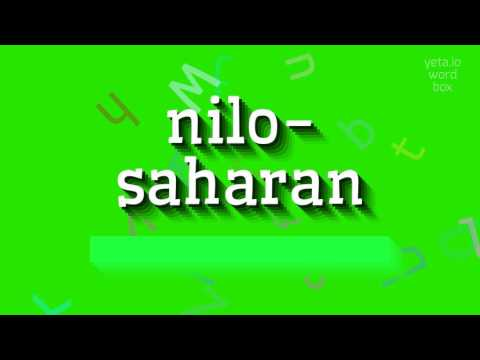 "How to say ""nilo-saharan""! (High Quality Voices)"