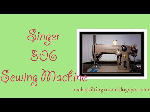 Singer 306 Sewing Machine Demonstration