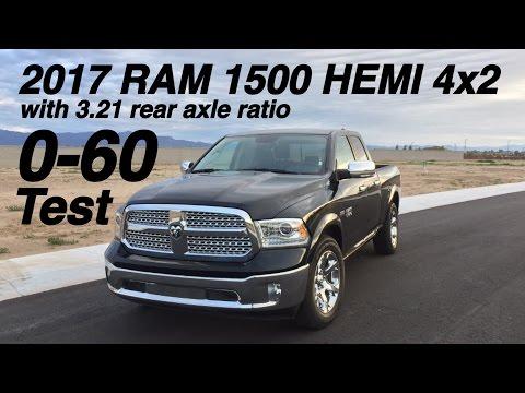 2017 RAM 1500 Hemi with 3.21 rear axle ratio 0-60 Test