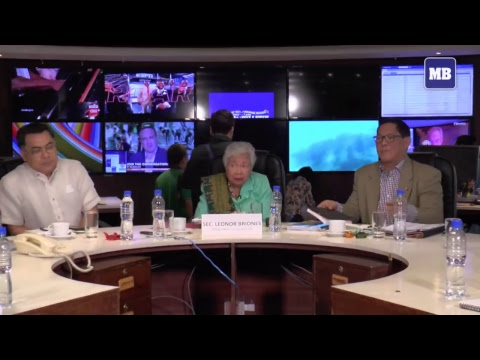 #MBHotSeat with DepEd Sec. Leonor Briones here at Manila Bulletin Integrated Newsroom.