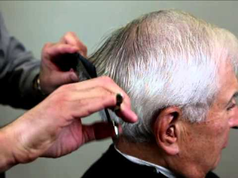 men's haircut - cut