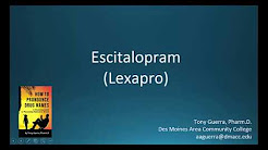 (CC) How to Pronounce escitalopram (Lexapro) Backbuilding Pharmacology