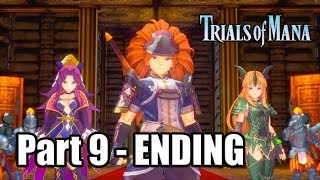 TRIALS OF MANA REMAKE (PS4 Pro) Gameplay Walkthrough Part 9 - Dragon Lord Showdown & ENDING