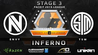 EnVy vs. TSM - Inferno (FACEIT League Stage 3 EU)(Play on FACEIT for free: http://www.faceit.com FACEIT on Twitter: http://www.twitter.com/faceit FACEIT on Facebook: https://www.facebook.com/FaceitCommunity ..., 2015-09-16T05:45:37.000Z)