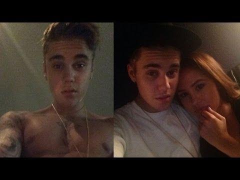 Justin Bieber ALMOST Nude Selfie & Cuddles Up to Gal Pals!