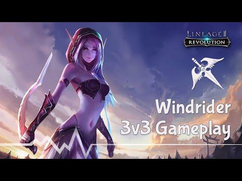 [Lineage2 Revolution] Windrider 3v3 Honorable Battlefield Gameplay