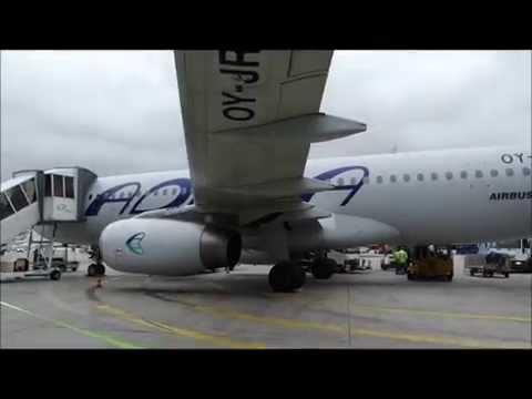 Condor flight Airbus A320 Frankfurt to Tenerife (taxi, takeoff, turbulence, landing)
