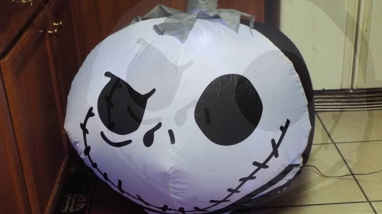 Nightmare Before Christmas Jack Skellington Halloween Airblown ...