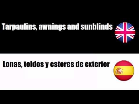 English-Spanish - Soft Furnishings