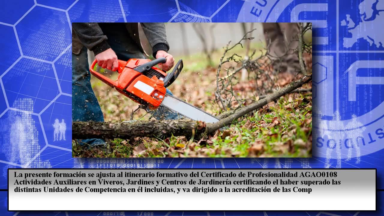 Agao0108 actividades auxiliares en viveros jardines y for Jardineria online