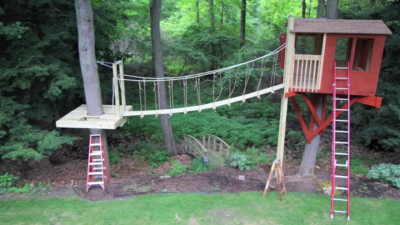 How To Build A Treehouse  YouTube