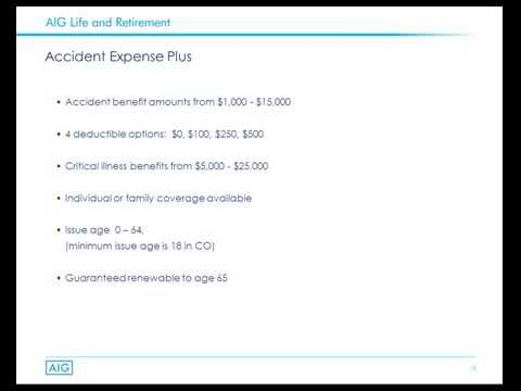 AIG's Guarantee Issue Personal Accident Policy 10-14-2014