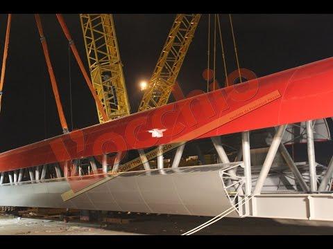Il ponte pedonale più lungo d'Europa è a Battipaglia. Ecco la posa in opera