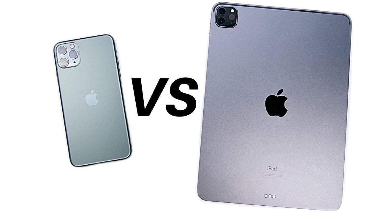 "iPhone 11 Pro Max vs iPad Pro 11"" Speed Test!"