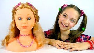 Видео для девочек - Учимся делать прически - Игры для девочек