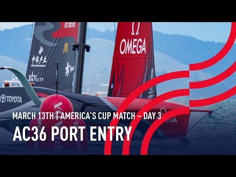 The 36th America's Cup | Port Entry Stern Camera | 🔴LIVE Day 3