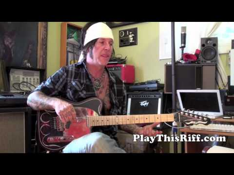 "TRACII GUNS guitar lesson ""L.A. GUNS Early Years"" PlayThisRiff.com"