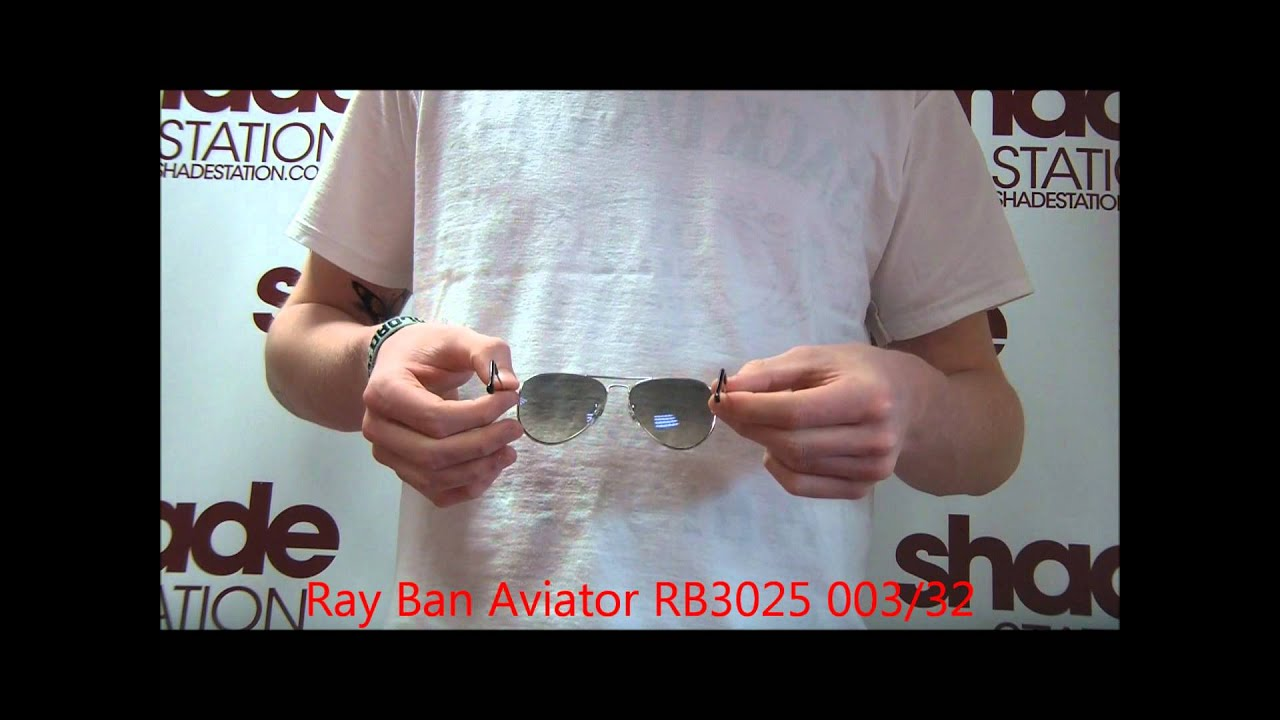 22b13d5b02176 Ray Ban Aviator Sunglasses Review - RB3025 003 32 - YouTube
