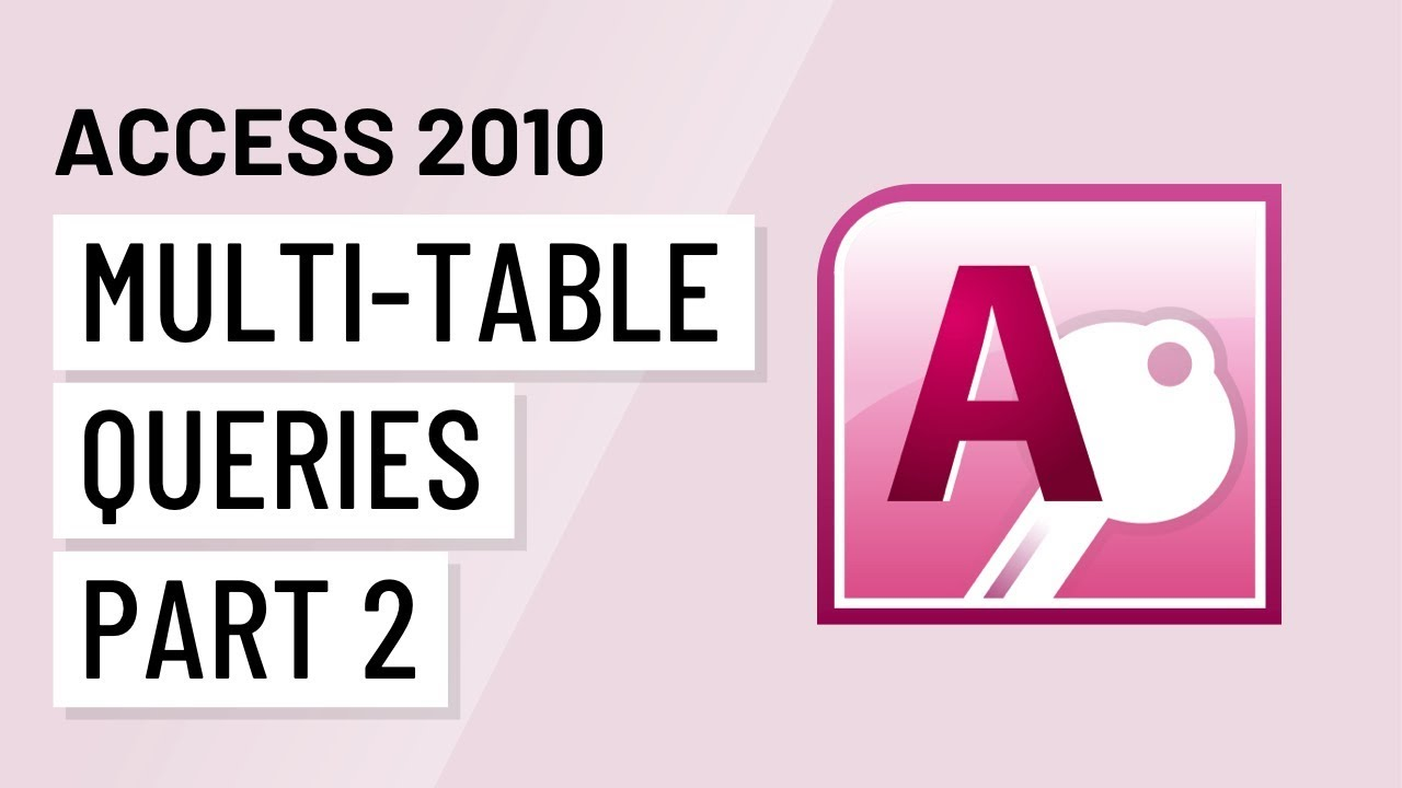 Access 2010: Designing a Query