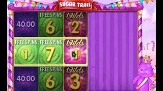Trop de chance ! Un gain gagnant énorme avec la machine à sous Sugar Trail