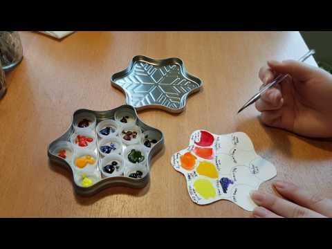 DIY - Travel Watercolor Palette (Amazon Gift Card Tin)