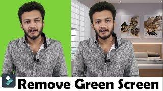 {HINDI} How To Remove Green Screen With Wondershare Filmora || chroma key in filmora || Part 2