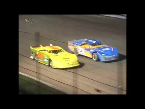Full race from the Super Stock division at Hartford Speedway Park in MI September 7, 2002. Zach Hansen takes the feature win. - dirt track racing video image