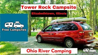 Free Camping In Illİnois - Tower Rock Campsite - Ohio River Camping