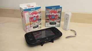 Wii Party U + Wii Remote Plus & GamePad stand - European Unboxing