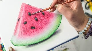 The Watermelon - Acrylic painting / Homemade Illustration (4k)