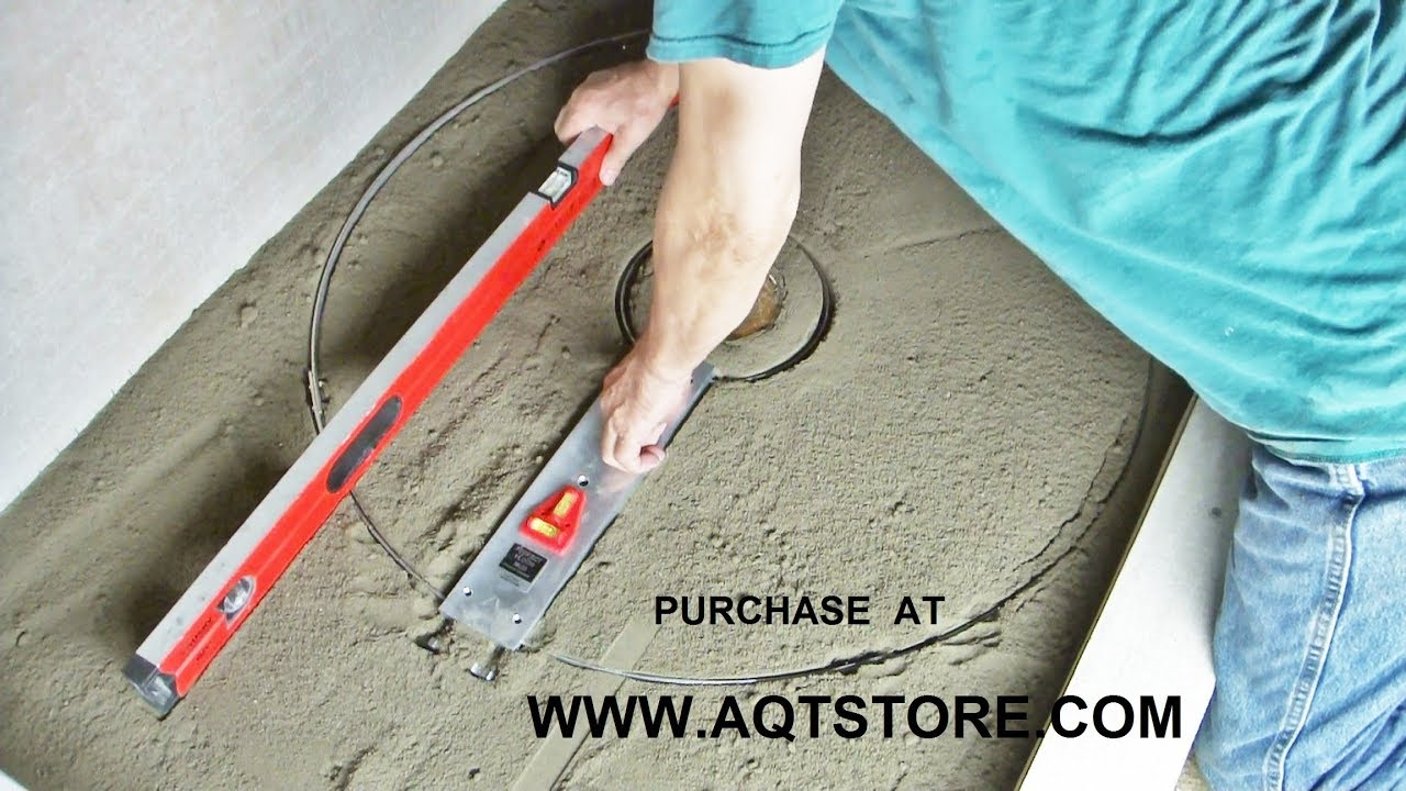 Superieur A.Q.T. Shower Floor Mud Forming Device MRb Video 1.