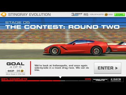 Stingray Evolution Stage 05 Goal 4 Of 5 Real Racing 3 Corvette Z51