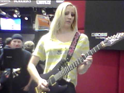 Iron Maidens at Winter NAMM 2012 in the Roland Corporation Courtney Cox Frank Boxberger Metal