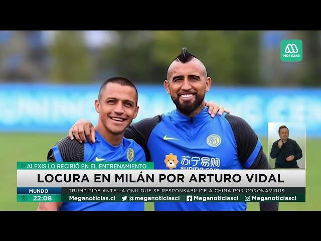 Locura en Milán por llegada de Arturo Vidal