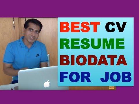 [Hindi] HOW TO MAKE RESUME CV FOR A JOB