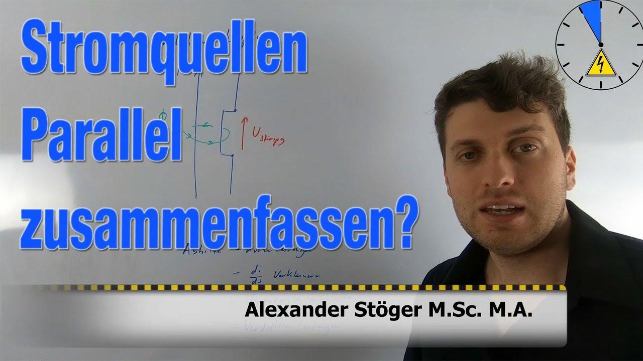 Stromquellen Parallel Darf ich die zusammenfassen? - YouTube