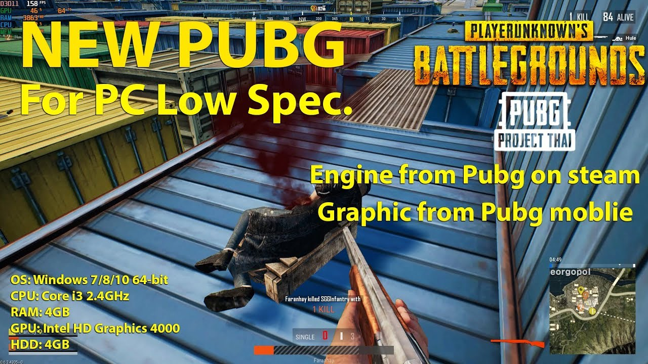 A Low Spec Version Of Pc S Pubg To Start: New PUBG Version For PC Low Spec Test Close Beta (PUBG