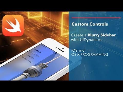 iOS Swift Tutorial: Create a custom control - Blurry Sidebar
